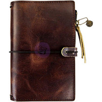 Prima Marketing - Prima Traveler's Journal Leather Essential Personal, Mocha Brown