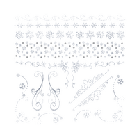 Crafter's Companion Foil Transfers - Sparkling Snowflakes