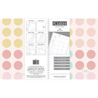 American Crafts - 2018 Weekly/Monthly Planner, Multi-Color Polka Dots With Silver Foil