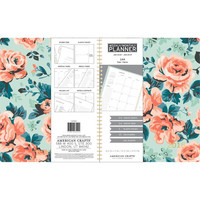 American Crafts - 2018 Weekly/Monthly Planner, Mint Floral With Gold Foil