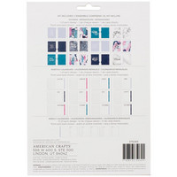 American Crafts - Memory Planner Starter Kit, Marble Crush Cool
