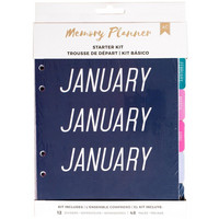 American Crafts - Memory Planner Starter Kit, Marble Crush Mixed
