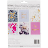 American Crafts - Memory Planner Insert, Marble Crush Pocket Folders