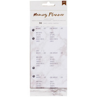 American Crafts - Memory Planner Inserts, Marble Crush Workout
