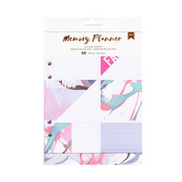 American Crafts - Memory Planner Inserts, Marble Crush