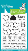 Lawn Fawn - How You Bean? Conversation Heart add-on, Leimasetti