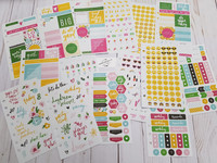 Heidi Swapp - Memory Planner Cardstock Stickers, Fresh Start Playful