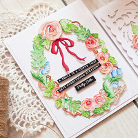 Spellbinders - Dimensional Floral Panel, Stanssisetti