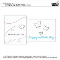 Lawn Fawn - Mini Pop-Up Butterflies, Stanssisetti