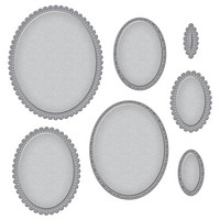 Spellbinders - Stanssisetti, Fancy Edged Ovals
