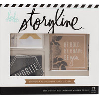 Heidi Swapp - Storyline2 Deck Of Days, Everyday, Tarrasetti, 76 osaa