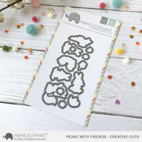 Mama Elephant - Picnic with Friends, Creative Cuts, Stanssisetti