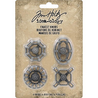 Tim Holtz - Idea-Ology Metal Faucet Knobs, 4 kpl