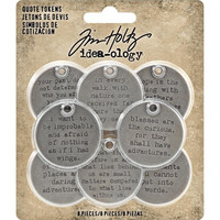 Tim Holtz - Idea-Ology Metal Quote Tokens, 8 kpl