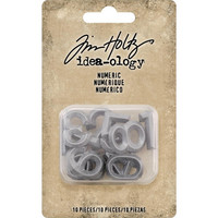 Tim Holtz - Idea-Ology Metal Numbers, 10 kpl