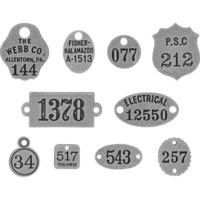 Tim Holtz - Idea-Ology Metal Adornments, Foundry, 10 kpl