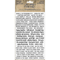 Tim Holtz - Idea-Ology Remnant Rubs Rub-Ons, Tiny Text, Siirtokuvia, 2 arkkia
