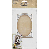 Tim Holtz - Idea-Ology Bookboard Collage Frames, Kehyssetti, 4 kpl