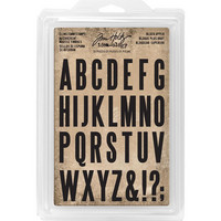 Tim Holtz - Cling Foam Stamps, Block Uppercase Alpha, Leimasetti