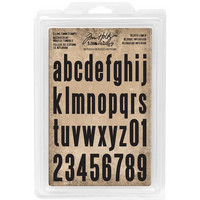 Tim Holtz - Cling Foam Stamps, Block Lowercase Alpha, Leimasetti