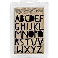 Tim Holtz - Cling Foam Stamps, Cutout Uppercase Alphabet, Leimasetti