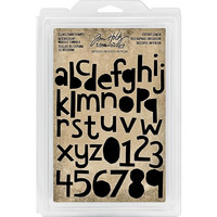 Tim Holtz - Cling Foam Stamps, Cutout Lowercase Alpha & Numbers, Leimasetti