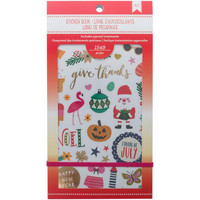 American Crafts - Planner Stickers, Seasonal, Tarrasetti
