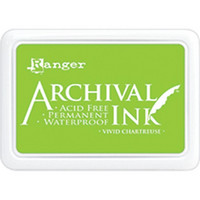 Ranger - Archival Ink leimamustetyyny, Vivid Chartreuse