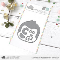 Mama Elephant - Creative Cuts, Monkey, Favor Bag Accessory, Stanssisetti