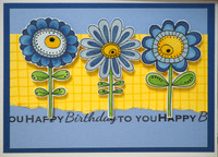 Woodware - Bold Blooms - Daisy Bunch, Leimasetti