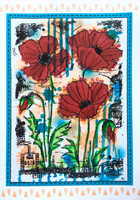 Woodware - Stitched Poppies, Leima