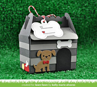 Lawn Fawn - Scalloped Treat Box Dog House Add-On, Stanssisetti