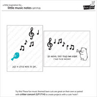 Lawn Fawn - Little Music Notes, Stanssisetti