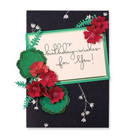 Spellbinders - Stanssisetti, Geraniums And Leaves