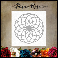 Paper Rose - Circlet Layered Background 1, Stanssi