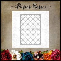 Paper Rose - Quatrefoil Background 1, Stanssi