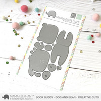 Mama Elephant - Book Buddy - Bear and Dog, Creative Cuts, Stanssisetti