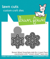 Lawn Fawn - Reveal Wheel Snowflake Add-On, Stanssisetti