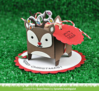 Lawn Fawn - Tiny Gift Box Deer Add-On, Stanssisetti