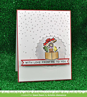Lawn Fawn - Snowfall Backdrop Portrait, Stanssi