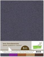Lawn Fawn - Glitterkartonki, Autumn, A4, 5 arkkia