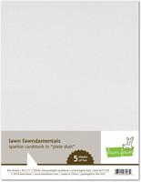 Lawn Fawn - Glitterkartonki, Pixie Dust, A4, 5 arkkia