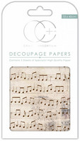 Craft Consortium - Decoupage Papers, Old Music Score