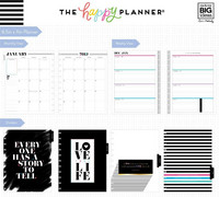 MAMBI - BIG Happy Planner 2019, One Day at a Time, päivätty HORIZONTAL