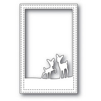 Poppy Stamps - Playful Deer Stitched Frame, Stanssi