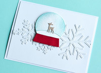 Poppy Stamps - Playful Fawn Snowglobe, Stanssi