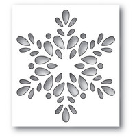 Poppy Stamps - Seed Snowflake Collage, Stanssi