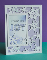 Poppy Stamps - Simple Pinpoint Snowflake Frame, Stanssi