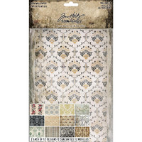 Tim Holtz - Idea-Ology Worn Wallpaper, Halloween, 24 arkkia