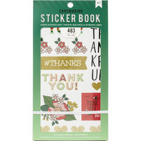 American Crafts - Lots Of Thanks Sticker Book, Tarrasetti